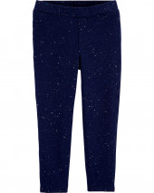 Sparkly Pull-On French Terry Jeggings
