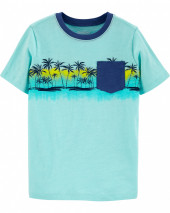 Oshkosh Palm Tree Pocket Tee