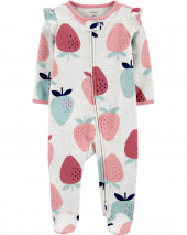 Strawberry 2-Way Zip Cotton Sleep & Play