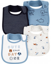 4-Pack Animal Teething Bibs