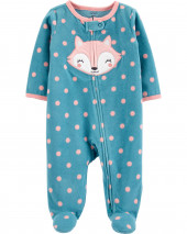 Fox Zip-Up Fleece Sleep & Play