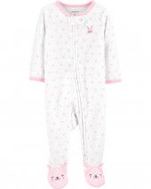 Bunny 2-Way Zip Terry Sleep & Play