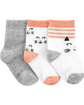 3-Pack Kitty Socks