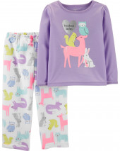 2-Piece Woodland Creatures Fleece PJs