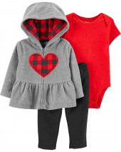 3-Piece Fleece Cardigan Set