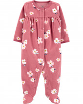 Floral Snap-Up Fleece Sleep & Play