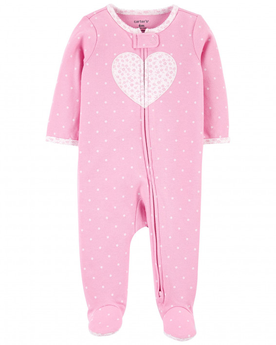 Heart 2-Way Zip Sleep & Play