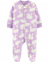 Swan 2-Way Zip Fleece Sleep & Play