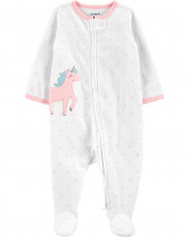Unicorn Zip-Up Fleece Sleep & Play