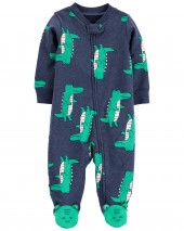 Alligator 2-Way Zip Cotton Sleep & Play