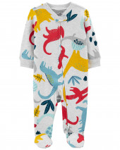 Dinosaur 2-Way Zip Cotton Sleep & Play