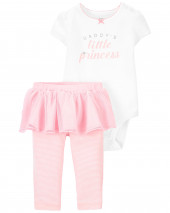 2-Piece Princess Bodysuit & Tutu Pant Set